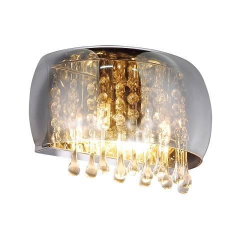 Szklana lampka ścienna z kryształkami Globo Lighting Kalla 15809W