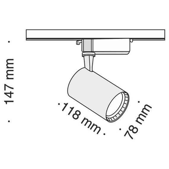 Szyno przewód Reflektor Maytoni Track TR003-1-12W4K-B Barwa 4000 K