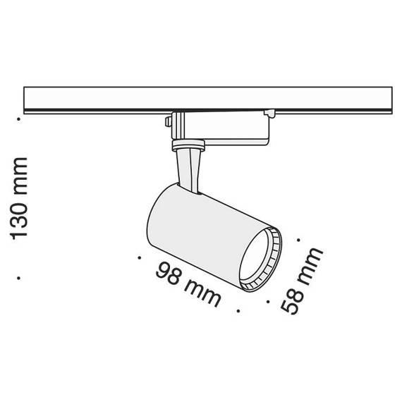 Szyno przewód Reflektor Maytoni Track TR003-1-6W3K-B Barwa 3000 K