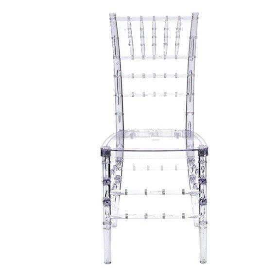 Transparentne krzesło w stylu glamour Chiavari