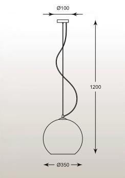 Vero MD1621-1 Miedź Żyrandol Zuma Line
