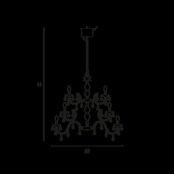 Wisząca lampa zewnętrzna Masiero Drylight S24