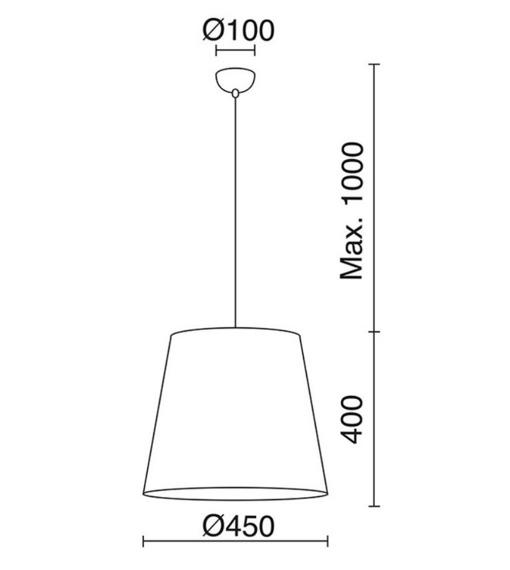 Vimet 724A-G05X1A-53 Novolux Exo Lampa wisząca