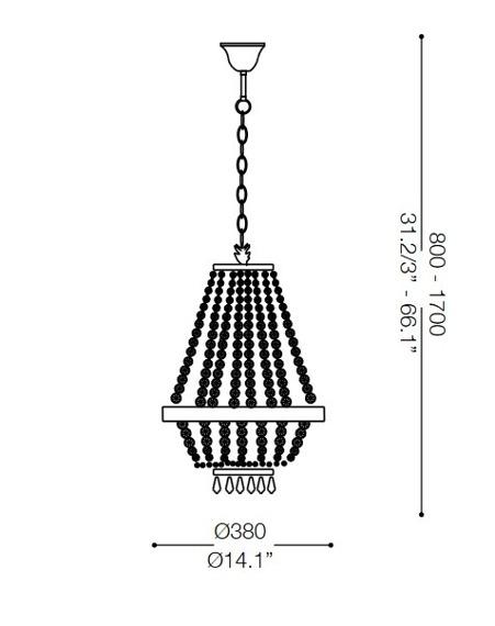 Żyrandol CAESAR SP6 114729 złota Ideal Lux