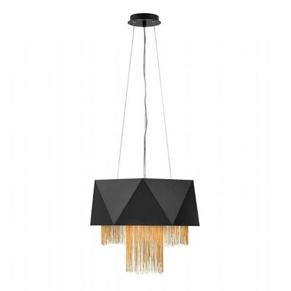 Żyrandol Elstead Lighting Zuma HK-ZUMA6-SBG Czarno - Złoty
