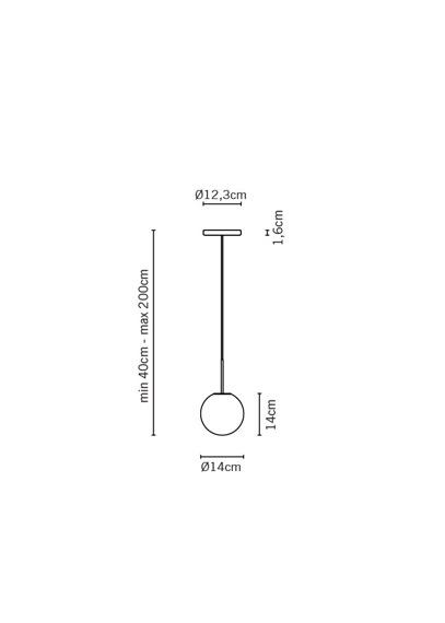 Żyrandol Fabbian LUMI SFERA F07 A17 01