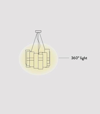 Żyrandol LED Slamp La Lollo Medium Gradient