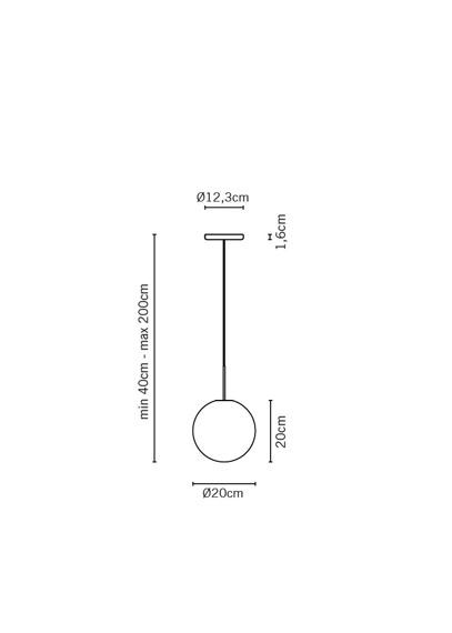 Żyrandol Lampa Fabbian LUMI SFERA F07 A19 01