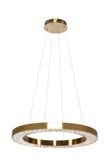 Żyrandol Złoty Szklany Berella Light Moloko 60 BL5430