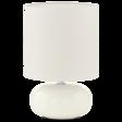 Biała lampka nocna Eglo Trondio 93046